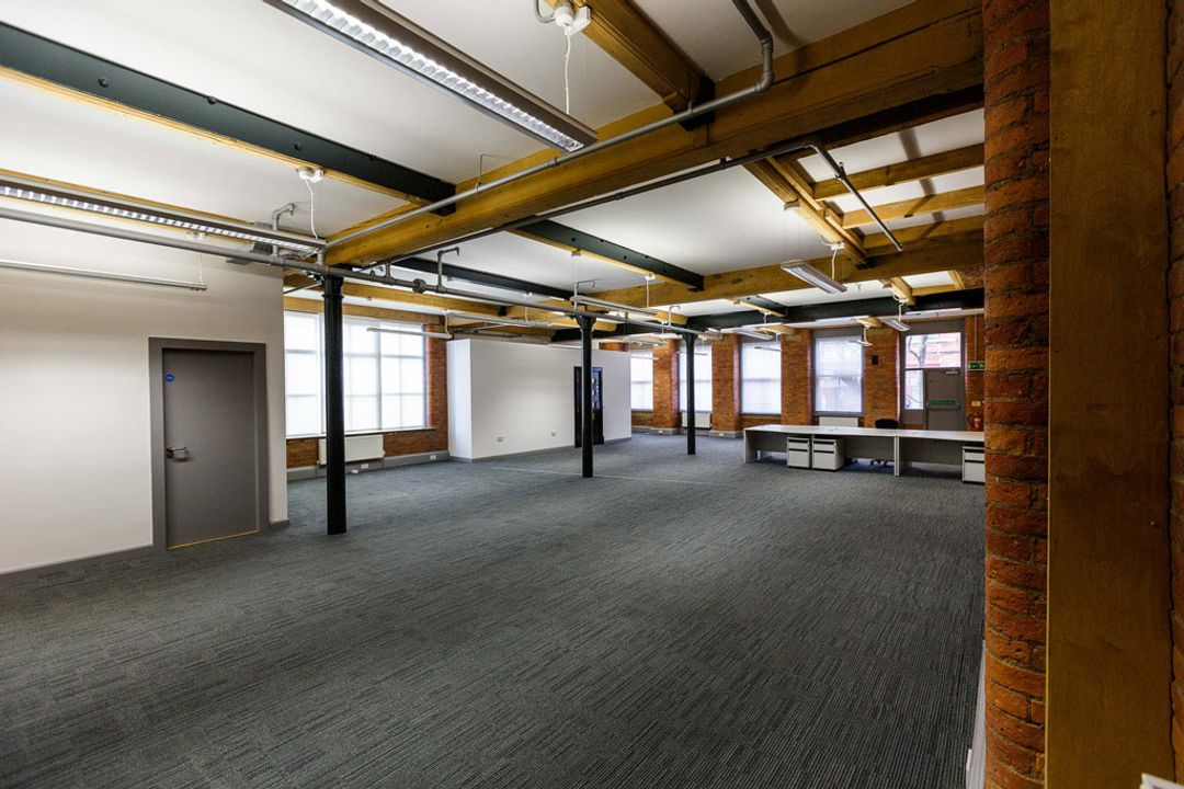 Buffalo 7 - Office space before fit out and furniture installation. Showing whole office layout view