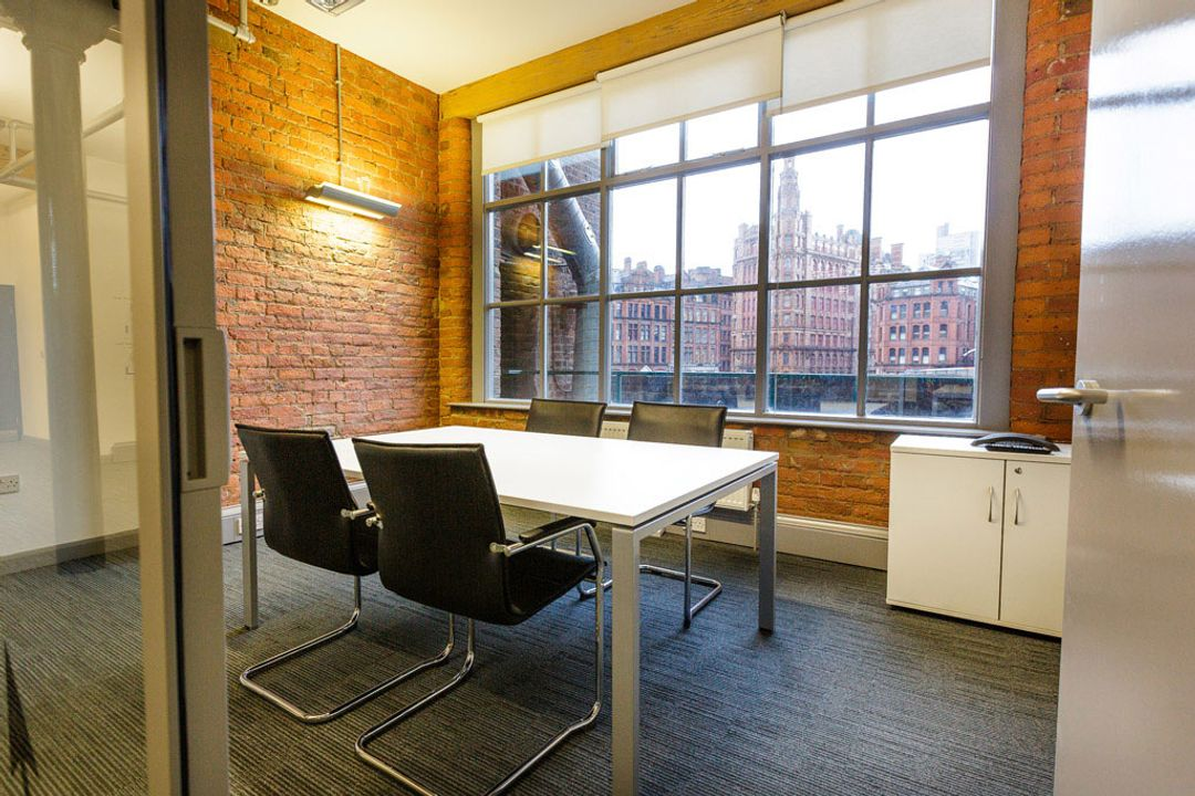 Buffalo 7 - Office space After fit out and furniture installation. Showing outlook view of main boardroom interior