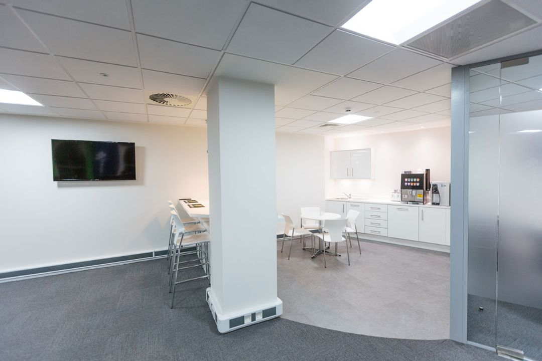 Kitchennette and Breakout area for Premier Group recruitment, Manchester